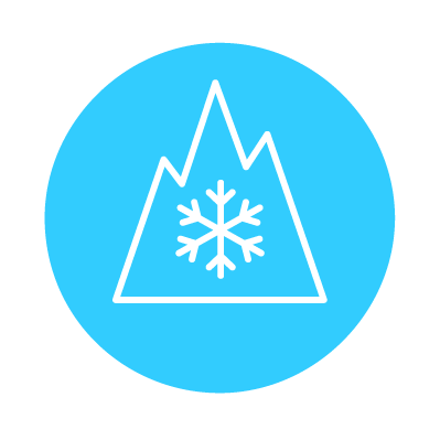 Mountain Snowflake winter tire icon