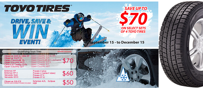 skier jumping for Toyo Tire rebate offer