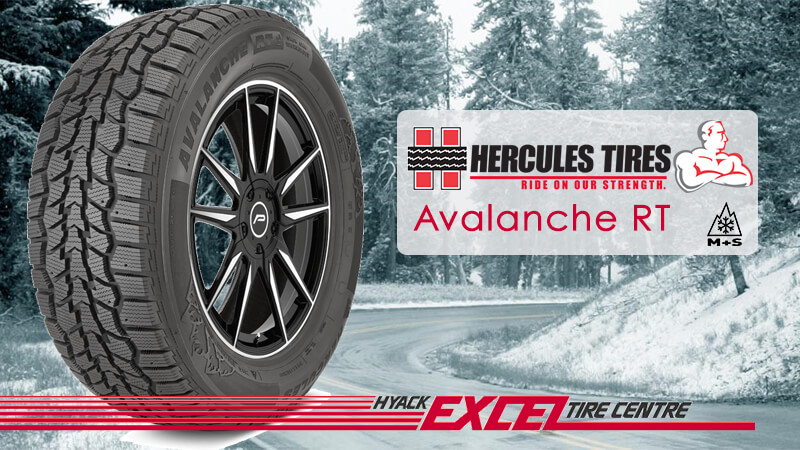 Hercules Avalanche RT tire on showy road
